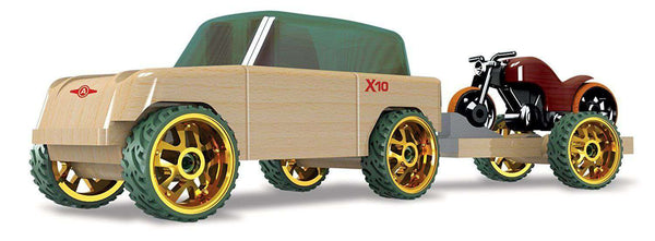 Automoblox | Mini X10 Timber SUV w/ Motorcycle & Trailer