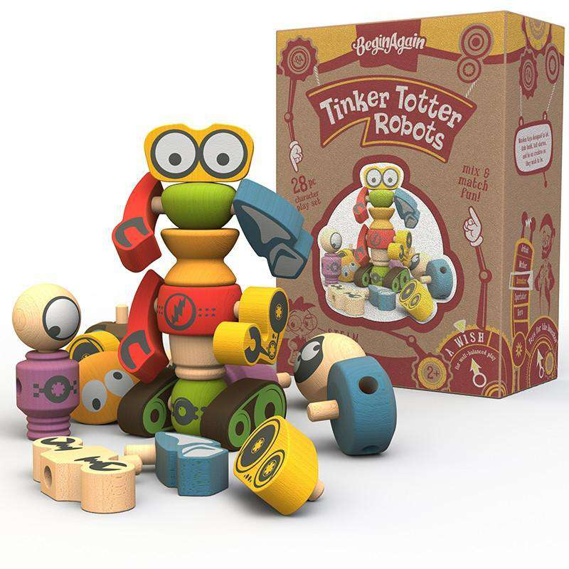 Begin Again Toys | Tinker Totter Robots Playset & Building Set