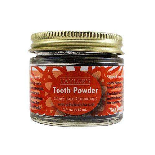 Taylor's Elevated | Tooth Powder w/ Activated Charcoal ~ Spicy Lips Cinnamon