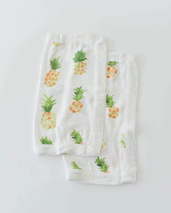 Little Unicorn | Deluxe Muslin Security Blanket 2 Pack ~ Pineapples