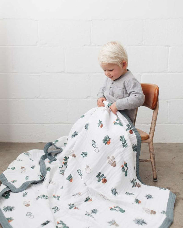 Little Unicorn | Big Kid Cotton Muslin Quilt ~ Prickle Pots