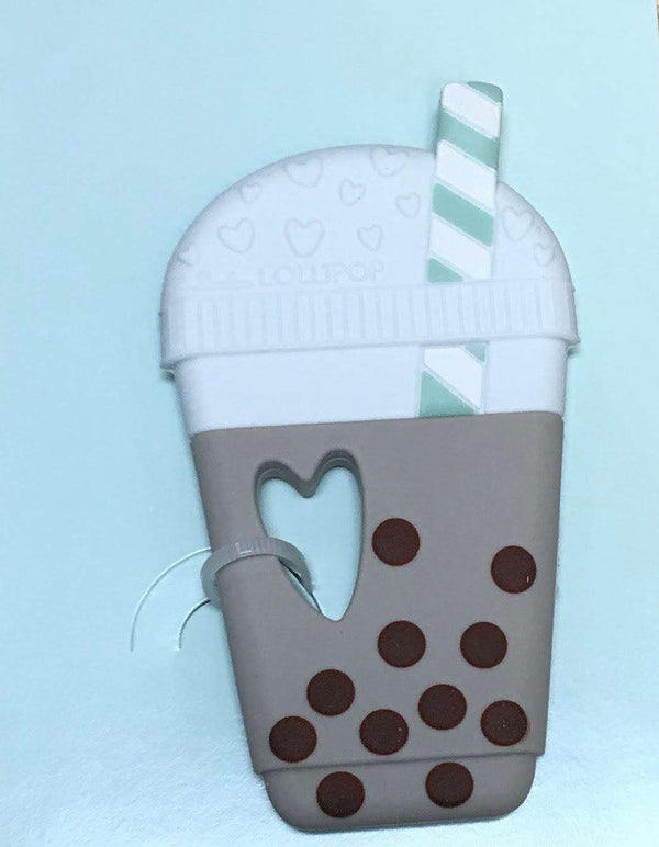 Loulou Lollipop | Bubble Tea Silicone Teether ~ Milk Tea