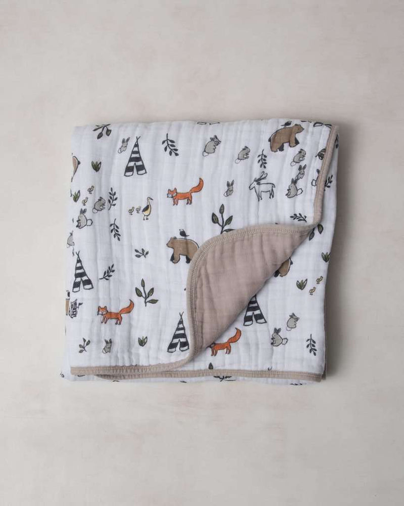 Little Unicorn | Organic Cotton Muslin Quilt ~ Forest Friends