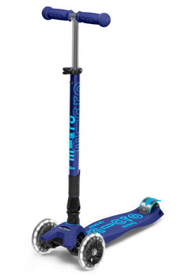 Micro Maxi Deluxe Folding LED Scooter | Navy Blue
