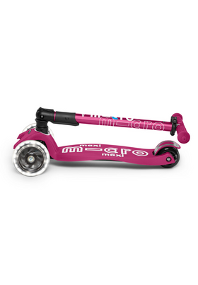 Micro Maxi Deluxe Folding LED Scooter | Berry Red
