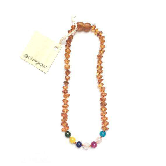 CanyonLeaf Raw Amber + Vintage Style  | Children's Necklace