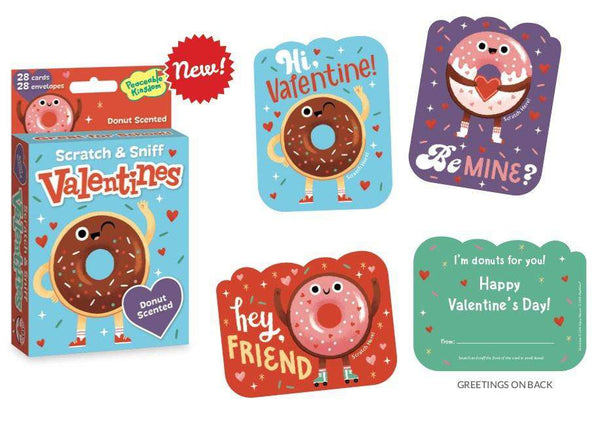 Peaceable Kingdom | Scratch & Sniff Valentines ~ Donut