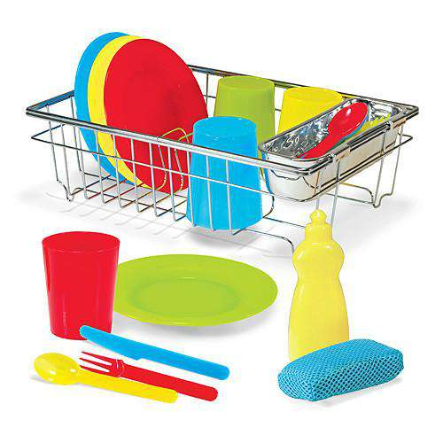 Melissa & Doug | Let's Play House! Wash & Dry Dish Set