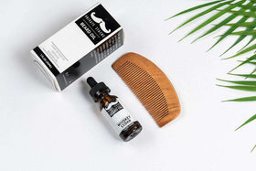 Private Stache | Beard Oil and Comb ~ Whiskey Cedar