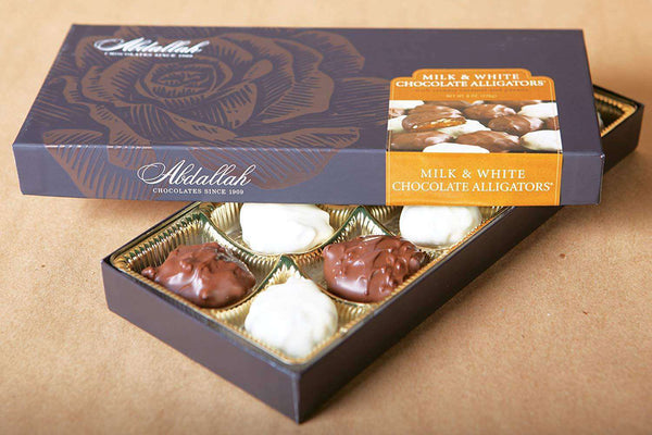 Abdallah Chocolate | Boxed Chocolate Selection ~Milk & White Alligators
