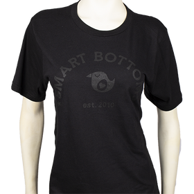 Smart Bottoms | Adult T-Shirt Black on Black Logo