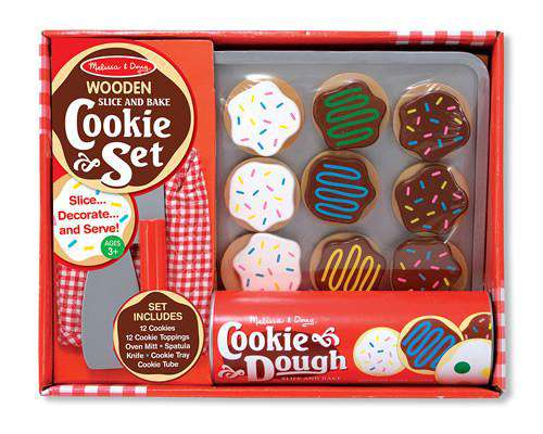 Melissa & Doug | Wooden Play Food | Slice and Bake cookie set