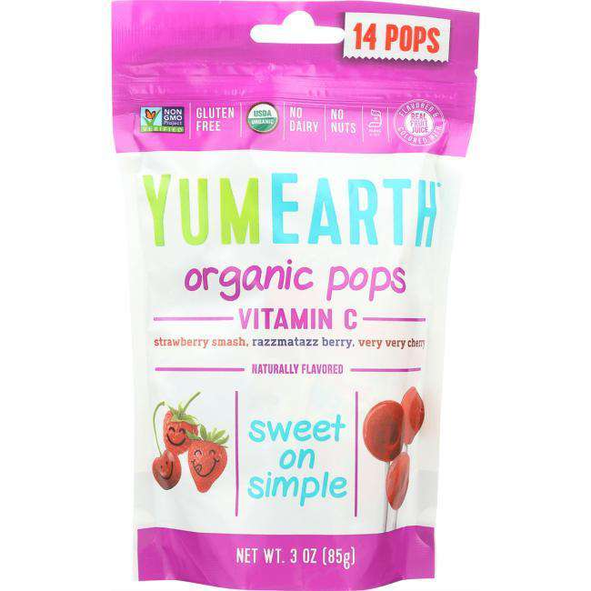 YumEarth | Organic Vitamin C Pops 14 ct ~ Assorted Flavors