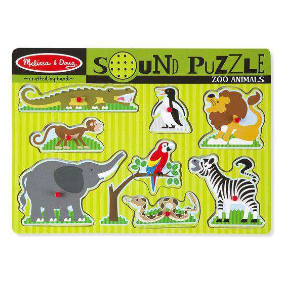Melissa & Doug | Sound Puzzle | Zoo Animals