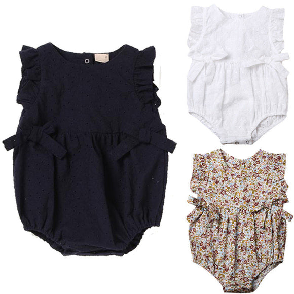 Cute Newborn Baby Girls Floral Romper