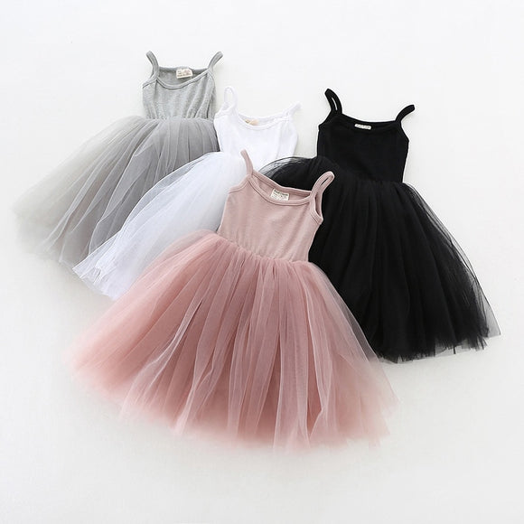 Baby Girls Princess Clothes Dresses  Cotton a-line For Birthday Party