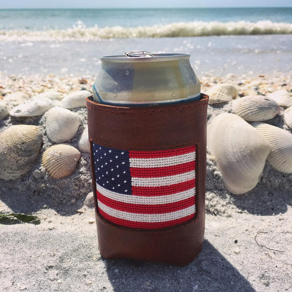 American Flag Needlepoint Can Holder by Smathers & Branson