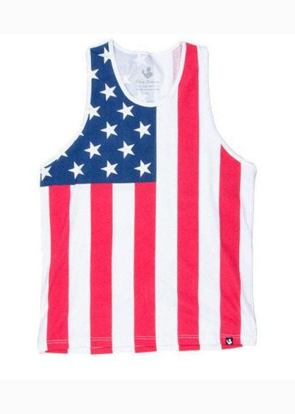 American Flag Tank Top in Red, White, & Blue by Rowdy Gentleman