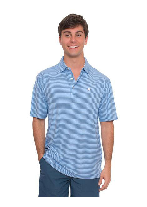 Andrews Performance Polo in Regatta Blue by The Southern Shirt Co.