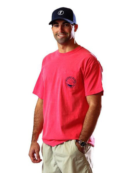 Big Air Tee Shirt in Watermelon Red by Waters Bluff