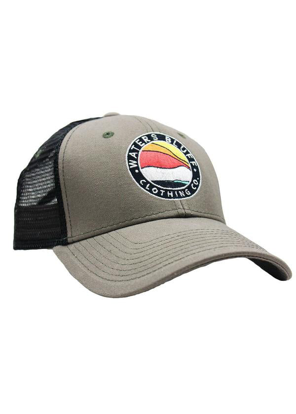 Bluff Horizon Trucker Hat in Surplus Green by Waters Bluff Clothing Co.