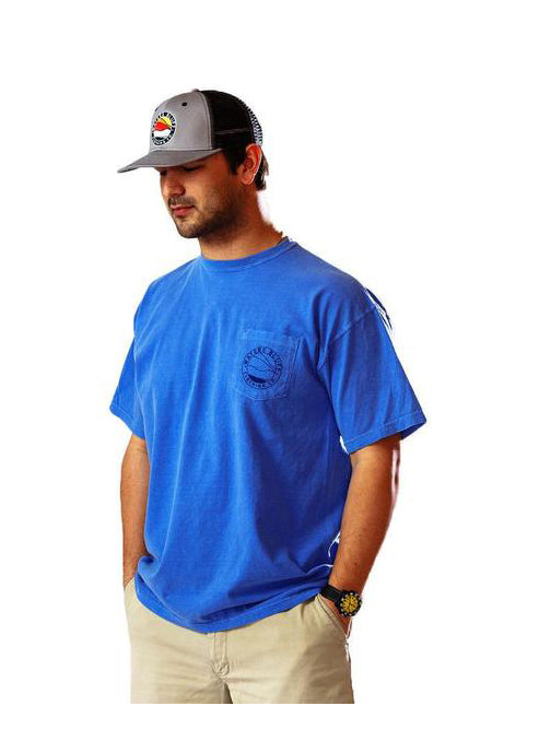 Bluff Horizon Tee Shirt in Flo Blue by Waters Bluff Clothing Co.