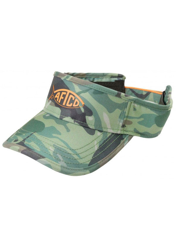Camo Visor in Green by AFTCO