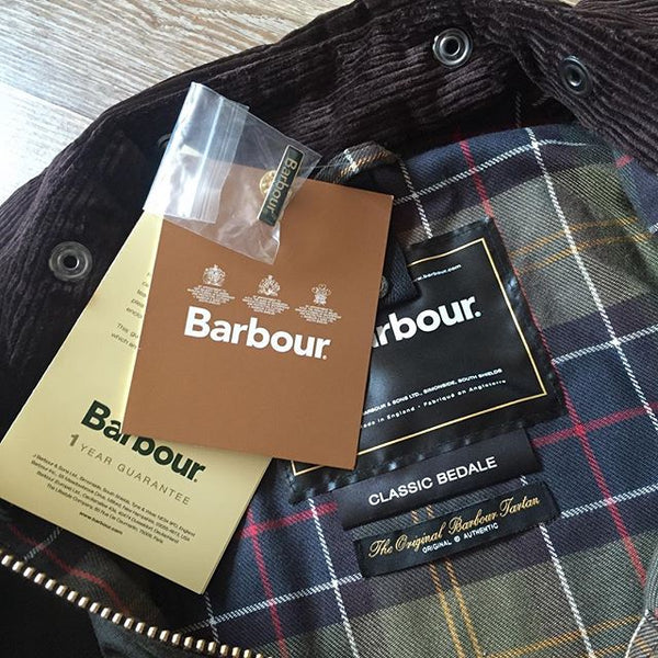 Classic Bedale Waxed Jacket in Olive by Barbour