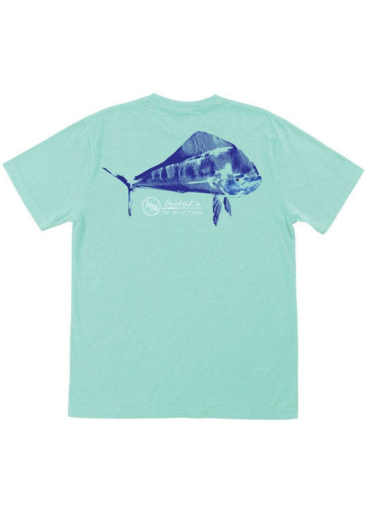 Dorado Gyotaku Tee Shirt in Vintage Maui Green by AFTCO