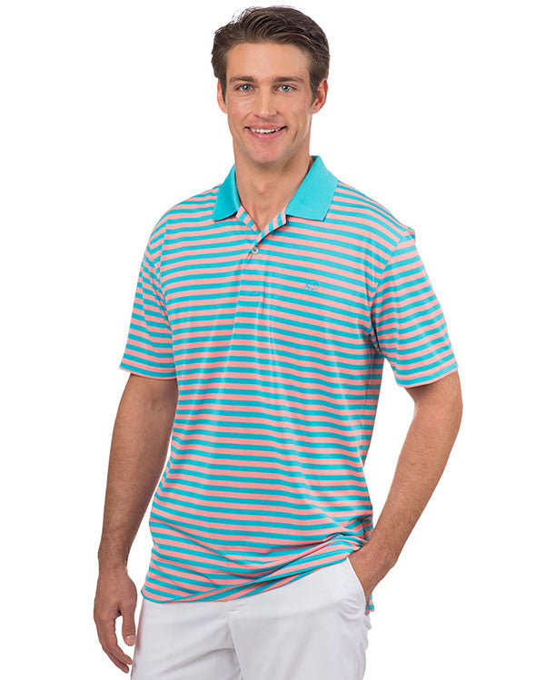 Southern Tide Fairway Stripe Performance Polo by Southern Tide