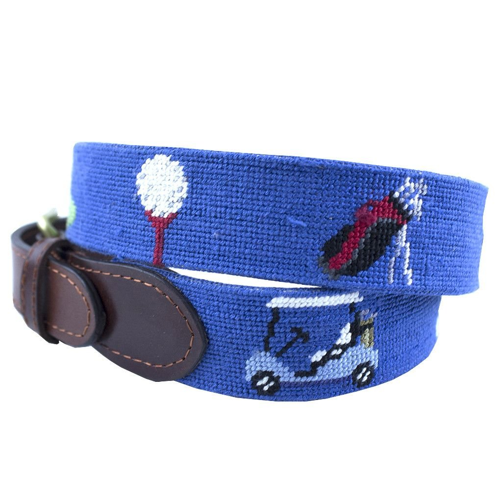 smathers and branson golf life needlepoint belt