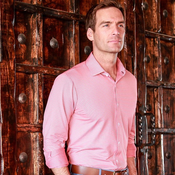 "The ""Hawthorne"" Button Down in Red by Mizzen+Main"