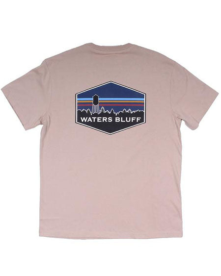 Midnight Tower Simple Pocket Tee by waters bluff