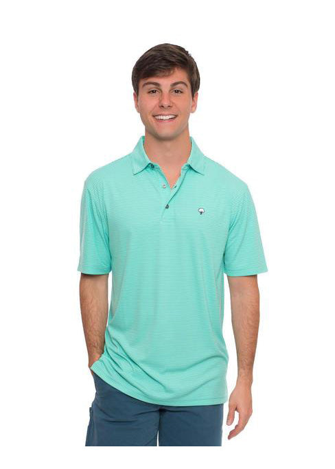 Jackson Performance Polo in Aqua Green by The Southern Shirt Co.