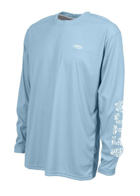 Jigfish Performance Sun Shirt in Blue by AFTCO