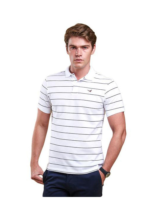 Lawrence Polo in White by Barbour