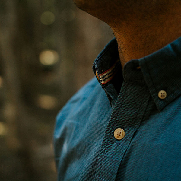 Washed Houndstooth Button Down Shirt by The Normal Brand