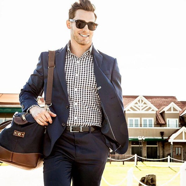 "The ""Montauk"" Button Down in Navy by Mizzen+Main"