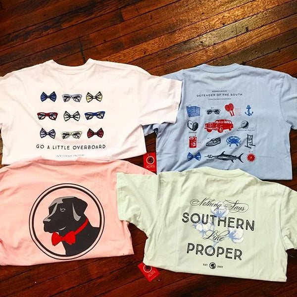 Original Lab Tee Shirt in Scallop Shell by Southern Proper