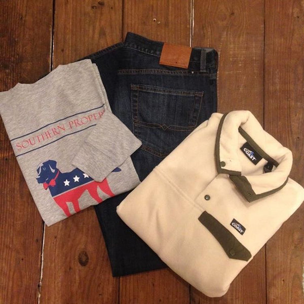 Party Animal Long Sleeve Tee Shirt in Grey by Southern Proper