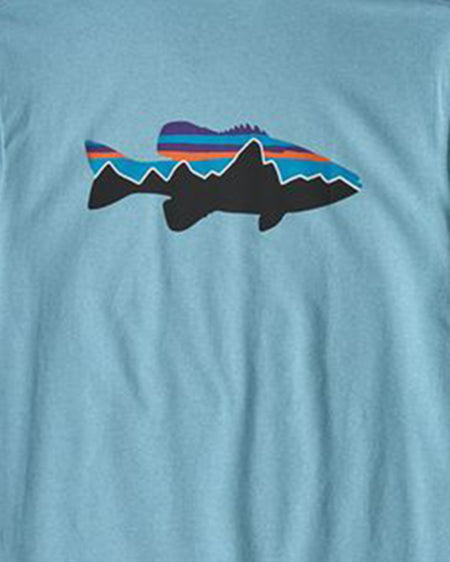patagonia Men's Fitz Roy Smallmouth Responsibili-Tee®®
