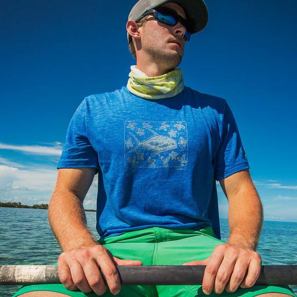 Permit In Mangroves Tee in Heather Royal by YETI