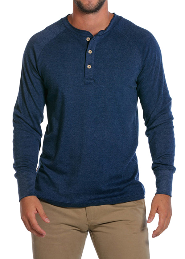 Puremeso Henley Long Sleeve Tee by The Normal Brand