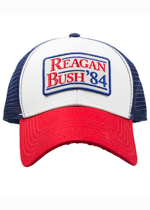 Regan Bush 84 Meshback Hat in Red White and Blue by Rowdy Gentleman
