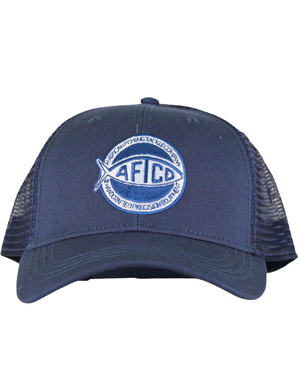 Rounder Trucker Hat in Navy by AFTCO