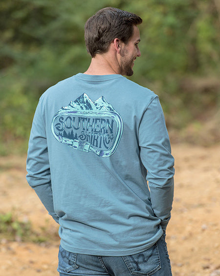 southern shirt co carabiner long sleeve tee