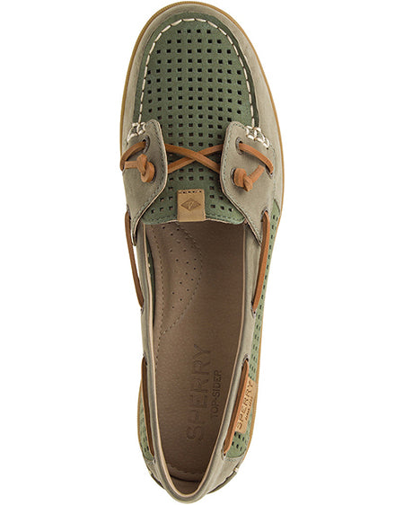 women's coil ivy perforated boat shoe sperry