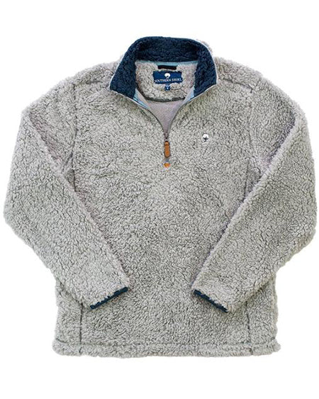 southern shirt co sherpa pullover with pockets