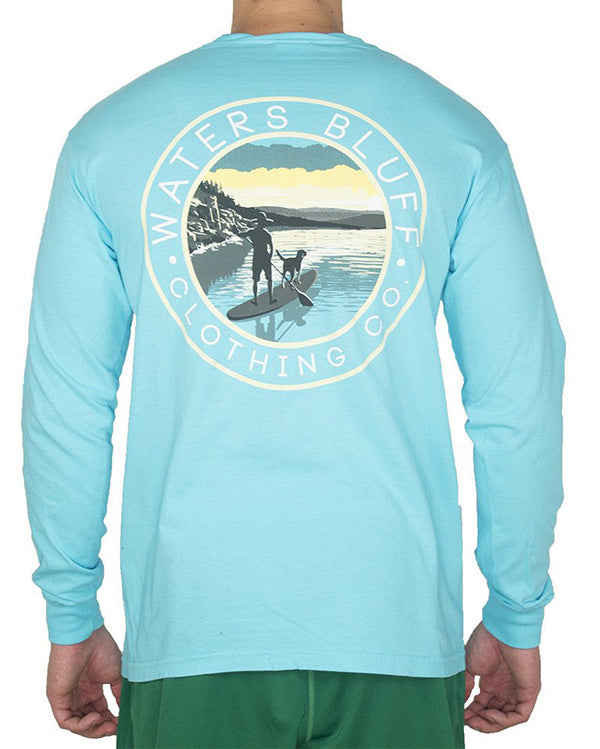Stand Up Long Sleeve Tee Shirt in Lagoon by Waters Bluff
