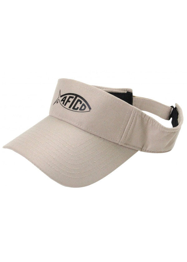 Tech Fishing Visor in Khaki by AFTCO